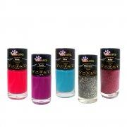 KIT Esmalte Pet Tchuska 10ml - Rose, Blue, Purple, Ruby, Diamond