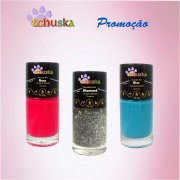 KIT FASHION Esmalte Pet Tchuska 10ml - Rose, Diamond, Blue