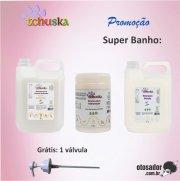 KIT SUPER BANHO TCHUSKA - Sh Coconut 5L + Sh Pérola 5L + Cr Hidratação 1Kg
