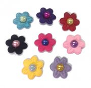 Flor Multicolor com Pérola - 20 unidades