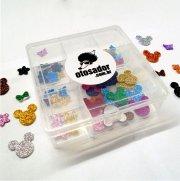 Kit Adesivos Pet Glitter EVA OTosador - caixa com 50un